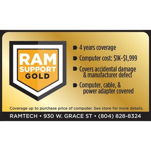 Safeware Gold RAMSupport 4-Year Warranty + First 6 Months Theft Coverage  $1000-$1999
