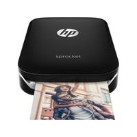 HP Sprocket Zero Ink Printer - Color - Photo Print - Portable (Black)