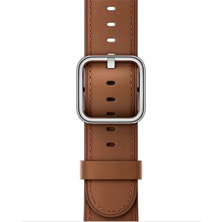 Apple Watch Band: 38mm Saddle Brown Classic Buckle
