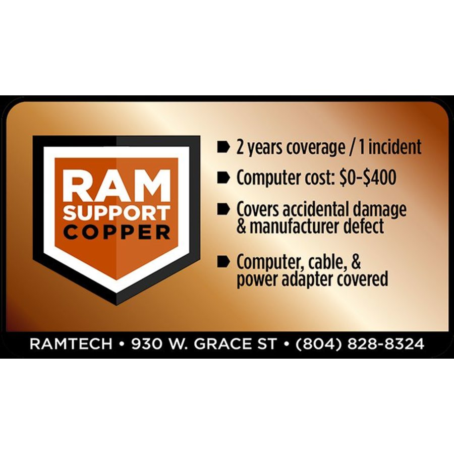 Copper RAMSupport 2-Year Replacement Warranty $0-$400