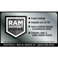 Silver RAMSupport 4-Year Warranty + First 6 Months Theft Coverage $0-$1000