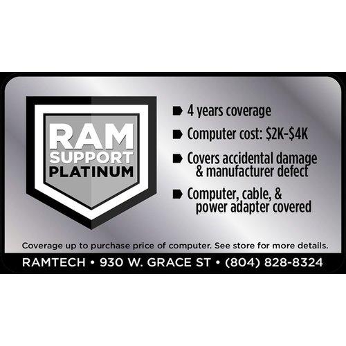 Safeware Platinum RAMSupport 4-Year Warranty + First 6 Months Theft Coverage $2000-$4000