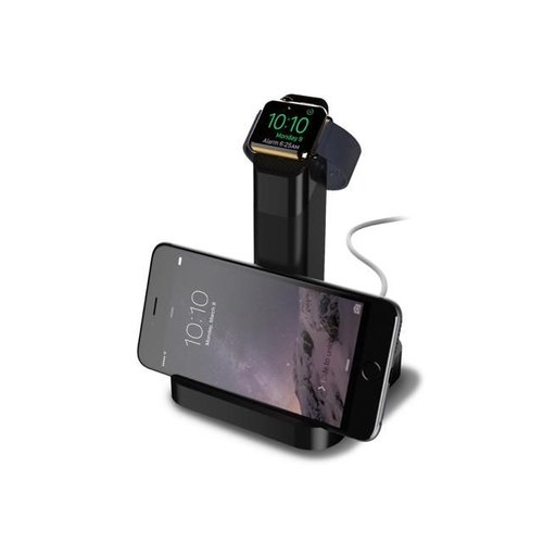 Griffin Griffin WatchStand Charging Dock, Dual Stand for Apple Watch and iPhone (Black)