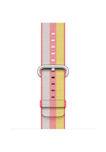 Apple Watch Band: 38mm Red Woven Nylon