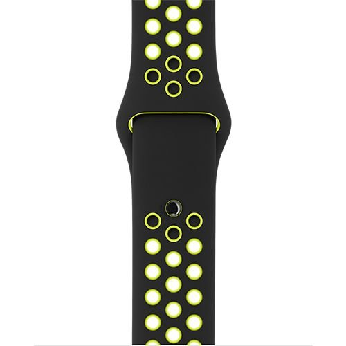 Apple Watch Band: 42mm Black/Volt Nike Sport Band - S/M & M/L
