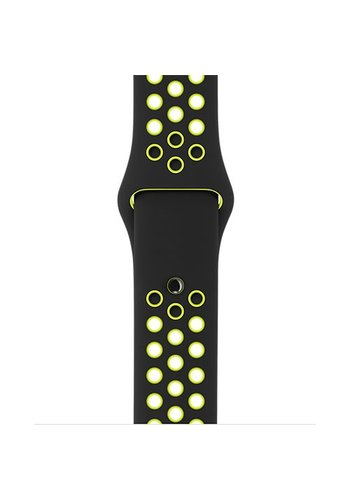 Apple Watch Band: 38mm Black/Volt Nike Sport Band - S/M & M/L