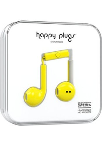 Happy Plugs Plus Earbuds (Yellow)