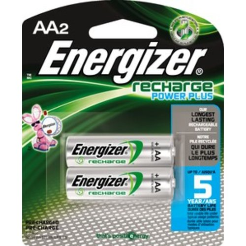 Energizer AA Rechargeable Nickel Metal Hydride Batteries (pack of 2)