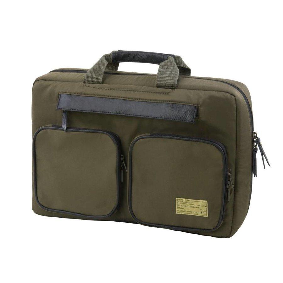 Hex Convertible Briefcase (Satin Fatigue)