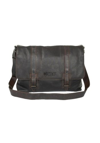 VCU Leather Messenger Bag (Cambridge Collection)