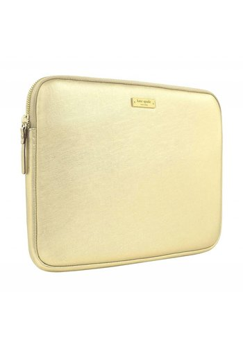 "Kate Spade NY Saffiano Laptop Sleeve for 13"" MacBook (Metallic Gold)"