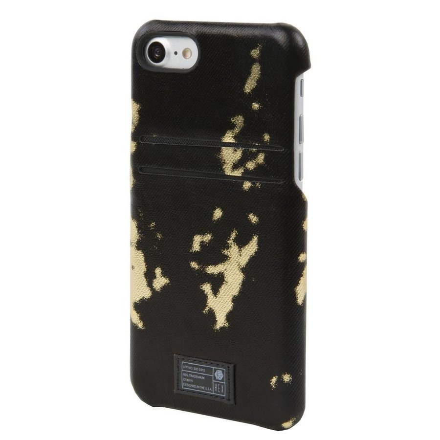 HEX iPhone 7 Solo Wallet (Black/Gold)