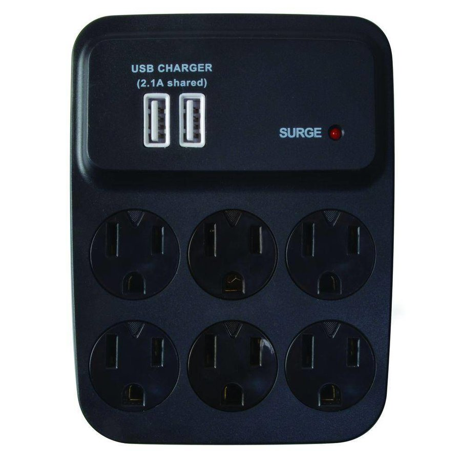 Coleman Cable 8-Outlet Surge Suppressor/Protector