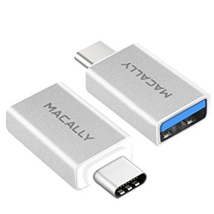 Macally USB-C to USB-A Adapter (2-Pack)
