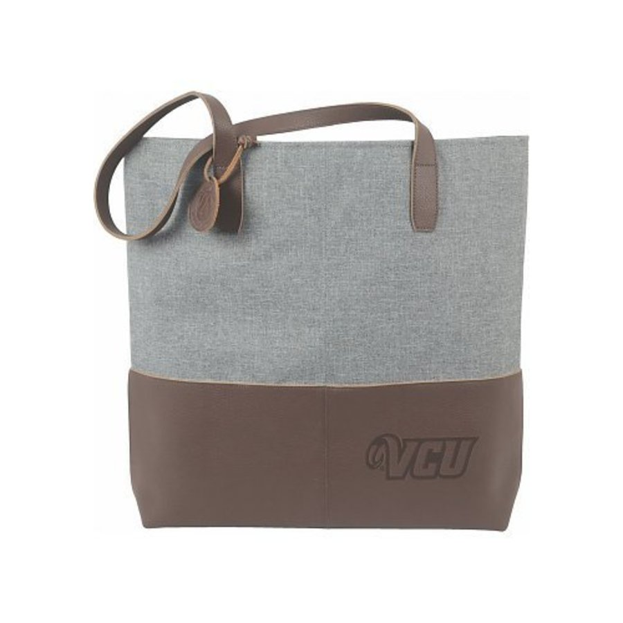 VCU Leather Heathered Tote