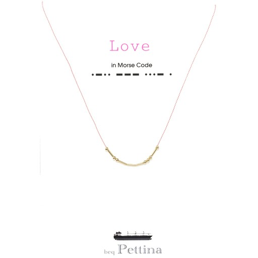 "Beq Pettina Morse Code Necklace ""Love"""