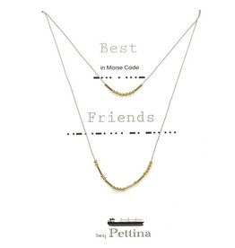 "Beq Pettina Morse Code Necklace ""Best Friends"" (set of 2)"