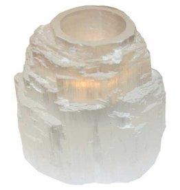 White Tower or Round Selenite Tealight Holder