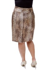 Lee Lee's Valise Linda High Waisted Skirt in Leopard