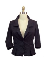 Lee Lee's Valise Angelina Jacket in Grey Pinstripe, 4x
