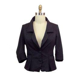 Lee Lee's Valise Angelina Jacket in Grey Pinstripe, 4x