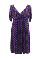 Lee Lee's Valise Stephanie Dress in Purple Haze