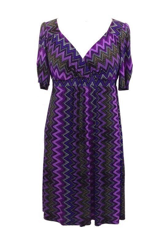 Lee Lee's Valise Stephanie Dress in Purple Haze