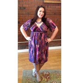 Lee Lee's Valise Stephanie Dress in Rose Quartz