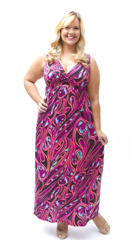 Lee Lee's Valise Janet Maxi Dress in Pink Pallet