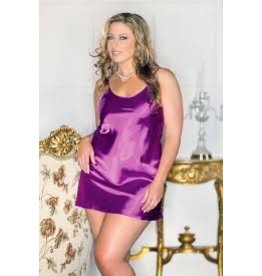 iCollection Satin Chemise in  Purple