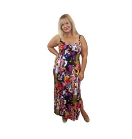 Lee Lee's Valise Kathleen Maxi Dress in Pollock