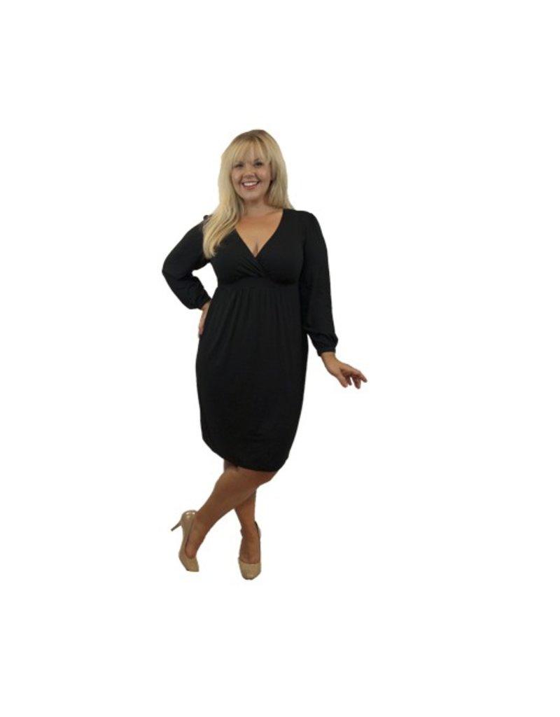 Lee Lee's Valise Lauren Dress in Black
