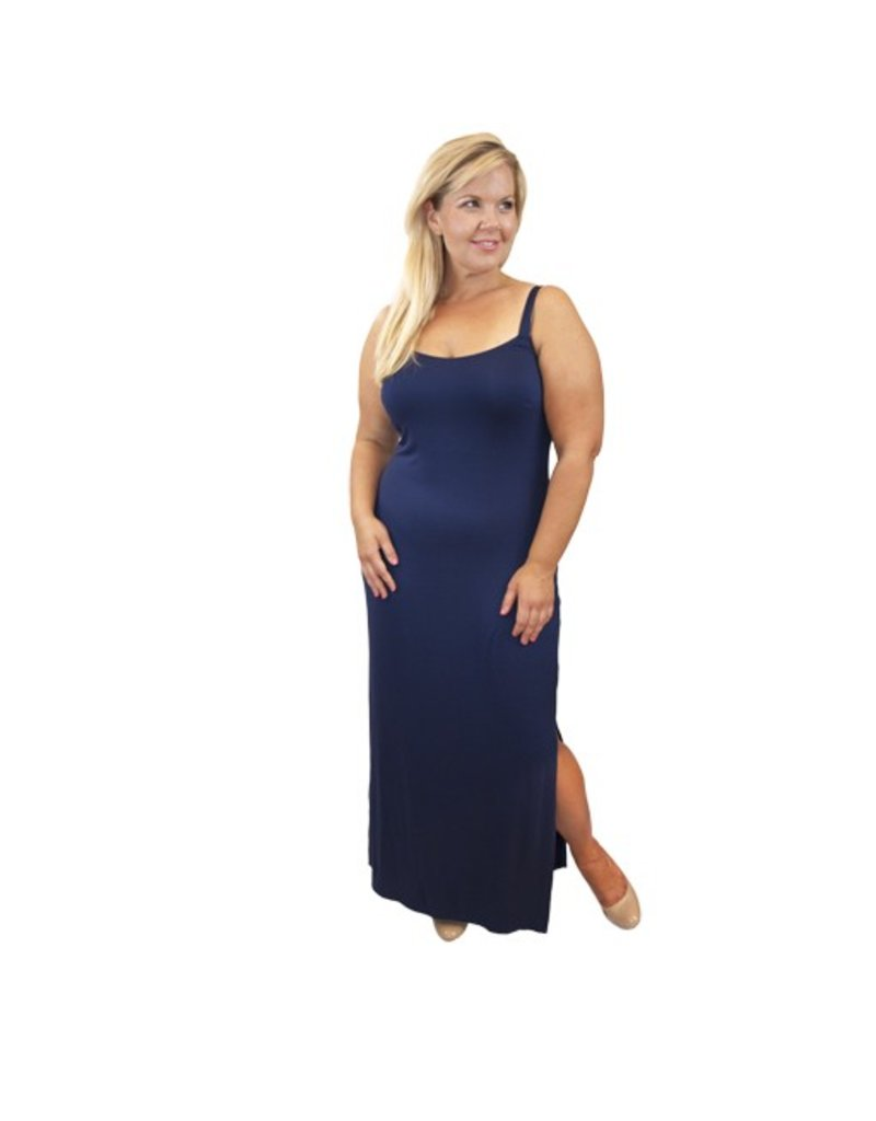 Lee Lee's Valise Kathleen Maxi Dress in Evening Blue