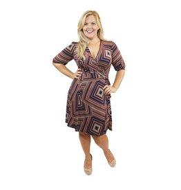 Lee Lee's Valise Lisa Wrap Dress