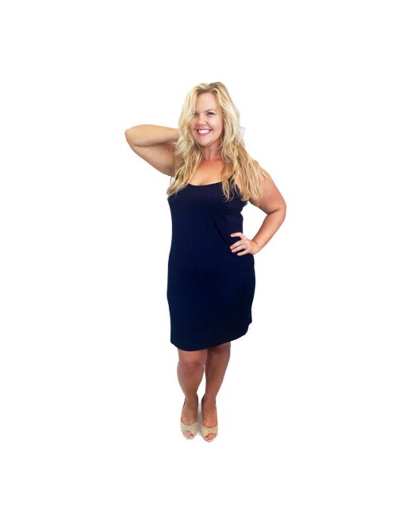 Lee Lee's Valise Sophia Dress in Evening Blue