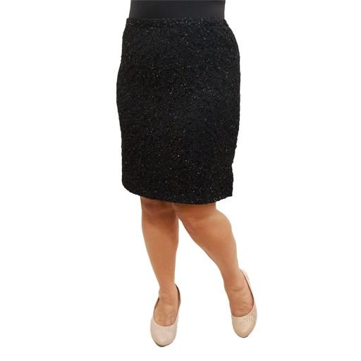 Lee Lee's Valise Paula Pencil Skirt in Black Glitter