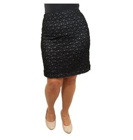 Lee Lee's Valise Paula Pencil Skirt in Black/Grey Glitter