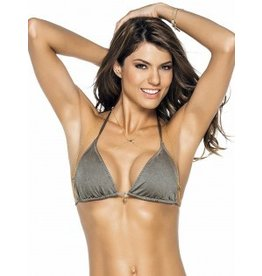 Phax Color Mix String Halter Top, Grey, Small