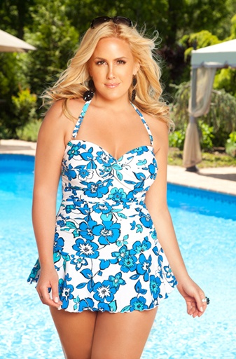 Always For Me Solid Twist Bandeau Swim