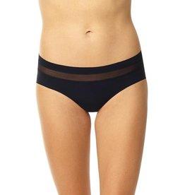 Commando Chic Mesh Hybrid Bikini, Black, S/M
