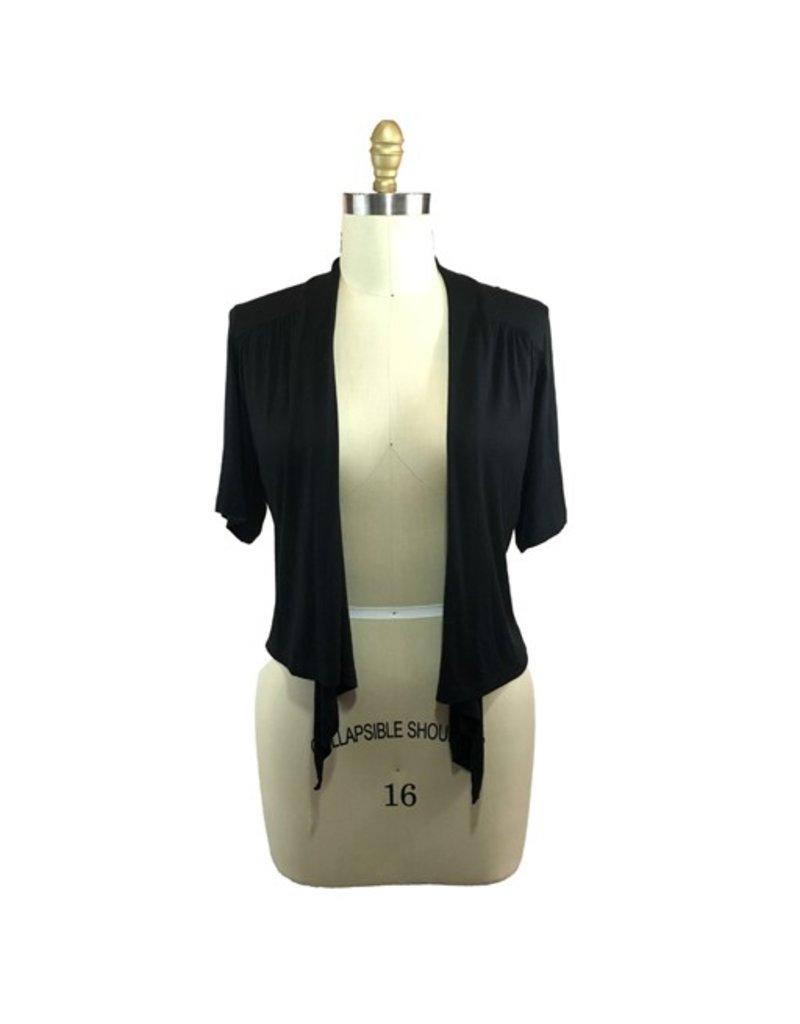 Lee Lee's Valise Short Sleeve Cropped Franny in Black