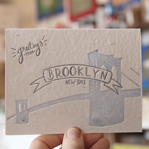 "Lovewild Design ""Brooklyn Greetings"" Plantable Card"