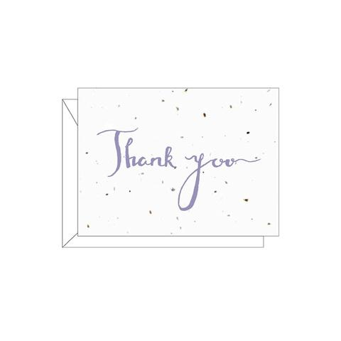 "Lovewild Design ""Thank You"" Plantable Card"