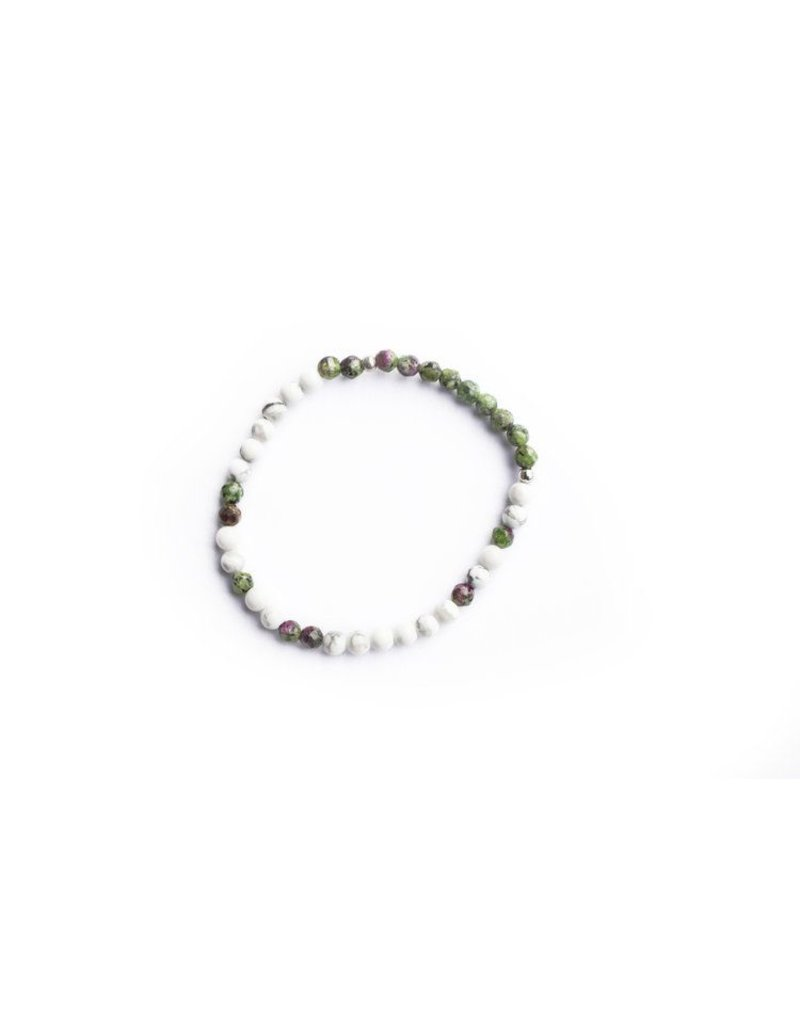 Ethic Goods Morse Code COURAGE Bracelet in Watermelon and Marble