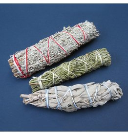 N. Imports Cedar, White, & Blue Sage Smudge Set