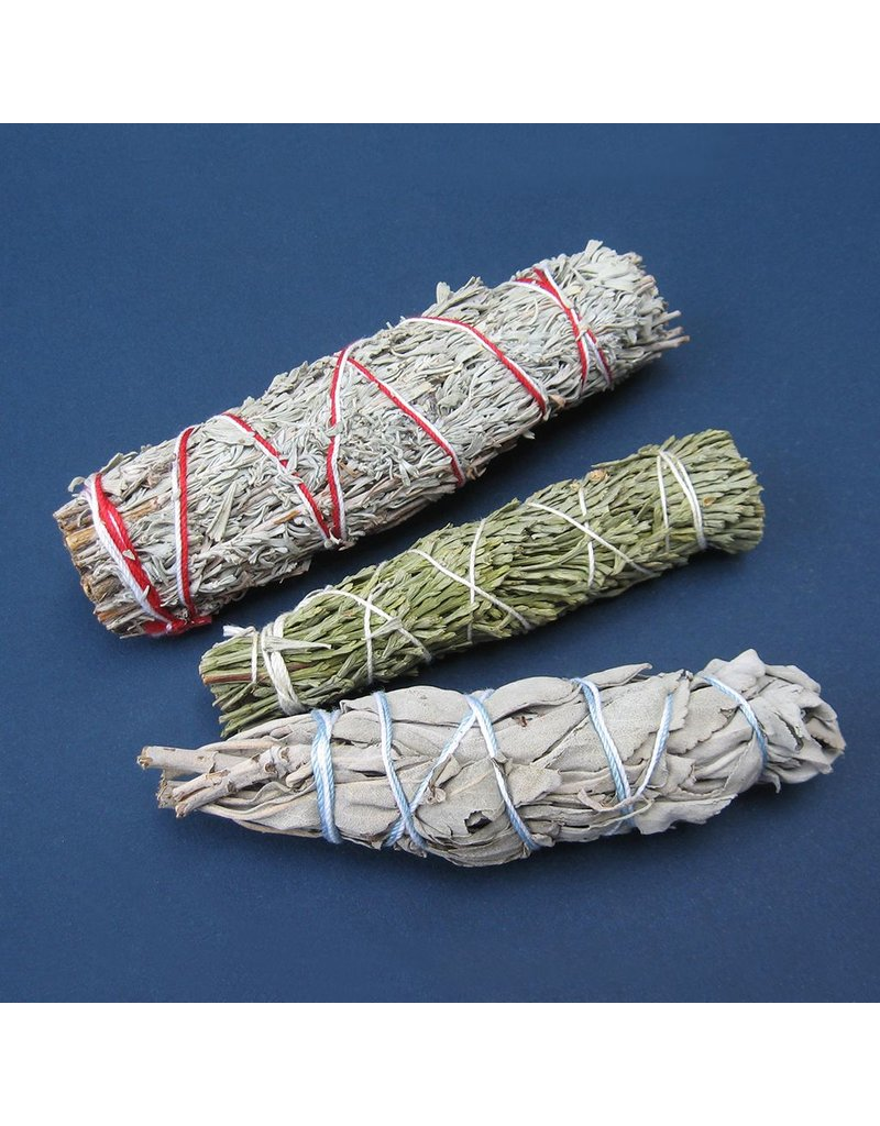 N. Imports Cedar, White, & Blue Sage Smudge Set