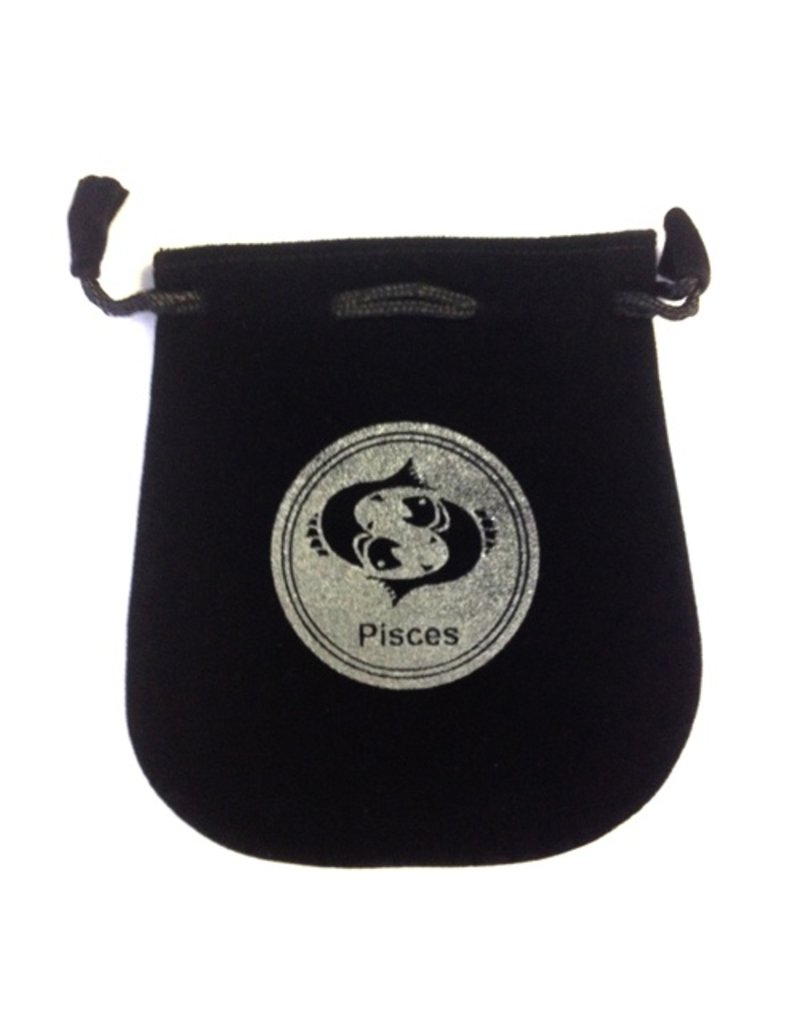 N. Imports Pisces Sign Velvet Bag
