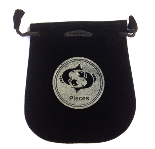 Pisces Sign Velvet Bag