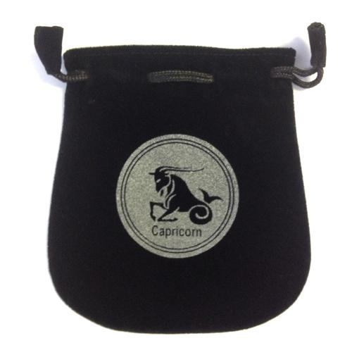 Capricorn Sign Velvet Bag