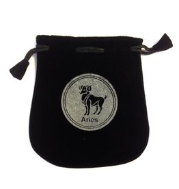 N. Imports Aries Sign Velvet Bag